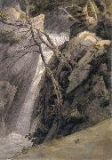 Francis Towne Waterfall near Ambleside oil painting artist